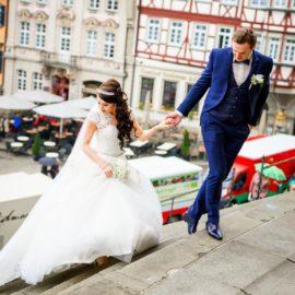 Hochzeit in der St. Michael Kirche Schwäbisch Hall ♡